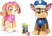 Paw Patrol Knuffel Chase en Skye Set - Classic New Style - 19 cm - Cartoon knuffels - Speelgoed voor kinderen