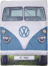 Volkswagen T1 bus tweepersoons slaapzak - blauw/rood
