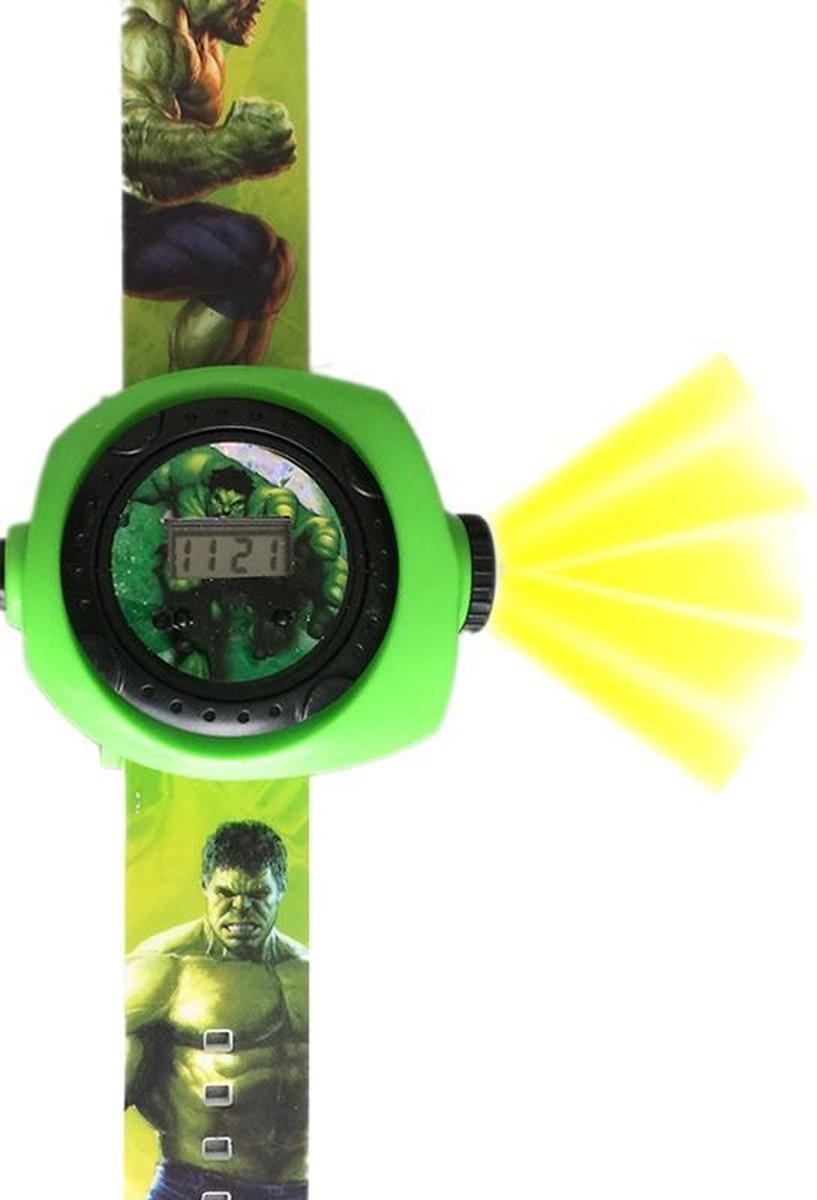Jongenshorloge Hulk met projectie functie