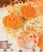 Vrolijke pompoen Halloween koekvorm - uitstekers - koekjes - fondant