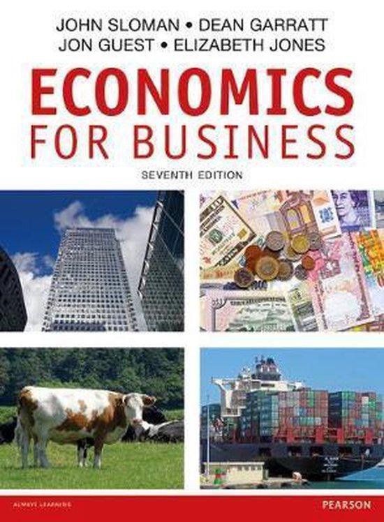 Boek cover Economics for Business van John Sloman (Paperback)