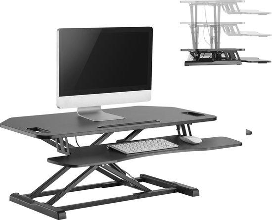 Bureau verhoger zit sta werkplek - ergonomisch hoogte verstelbaar bureau - 95 cm breed