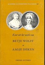 Keur uit het werk van Betje Wolff en Aagje Deken