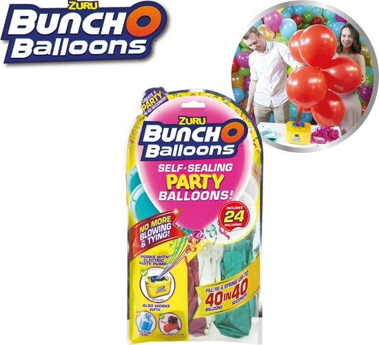 Bunch O Balloons Kit – 24 zelfsluitende ballonnen roze-blauw-wit - feestversiering, ballonnentros