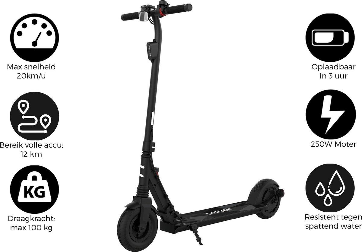 "Denver SEL-80125 - Elektrische step - 8"" Banden - E-Step met aluminium frame - E-Scooter - Zwart"