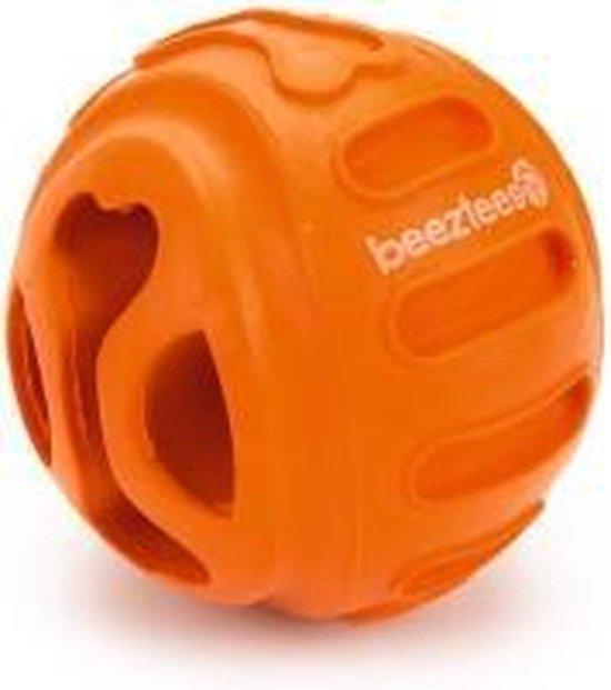 Beeztees rubber snackbal hond biski oranje 6 cm