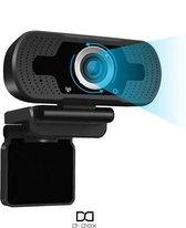 Webcam met microfoon   1080P HD   Voor video chat  skype bellen  game voor computer
