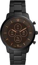 Fossil Neutra Hybrid HR FTW7027 - Smartwatch Heren - 45 mm - Zwart