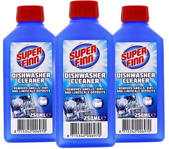 3x Superfinn vaatwasmachinereiniger - vaatwasser reiniger - Verwijdert nare geurtjes , vuil en kalk - 3x 250ml