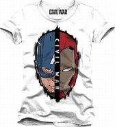 CIVIL WAR - T-Shirt Cap/Iron (XL)