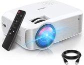 TOPVISION - Beamer - Projector- 5500 Lumen - LED - Mini beamer - Full HD - 1080p - Thuis Bioscoop