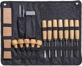 Houtbewerking gereedschap beitel gutsen houtsnij set houtsnijden hobby - handig op te bergen