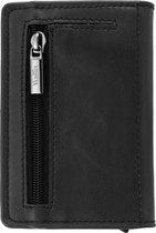 Wallix® Luxe Pasjeshouder - Uitschuifbaar - Unisex Portemonnee - 100% RFID Veilig - Leren Creditcardhouder - Zwart