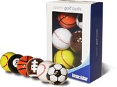 Golfballen 6 Stuks Fun  Golf - golfen - kado - verjaardag