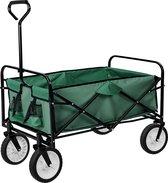 TecTake - Bolderkar bolderwagen transportkar opvouwbaar 402596 groen