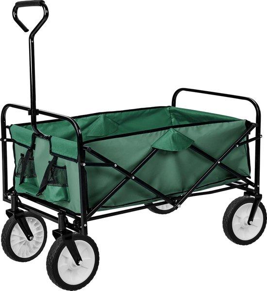 Product: TecTake - Bolderkar bolderwagen transportkar opvouwbaar 402596 groen, van het merk Tectake