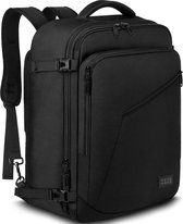 TravelMore Carry On Backpack - Dames / Heren - Handbagage Weekendtas - Waterafstotend - 40L - Zwart