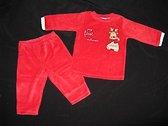 Velours kerst babyset - My first X-mas - maat 62/68 (2-5 maanden)