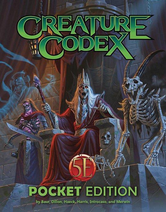 Boek cover Creature Codex Pocket Edition van Wolfgang Baur (Paperback)