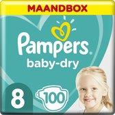 Pampers Baby-Dry Luiers - Maat 8 (17+ kg) - 100 st
