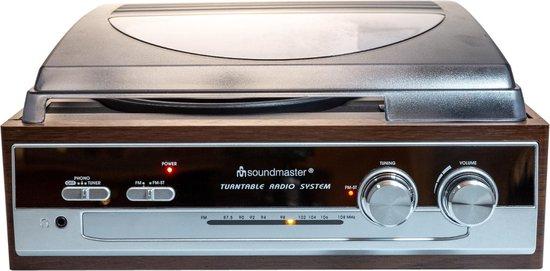 Soundmaster PL 186 H - Platenspeler - Bruin