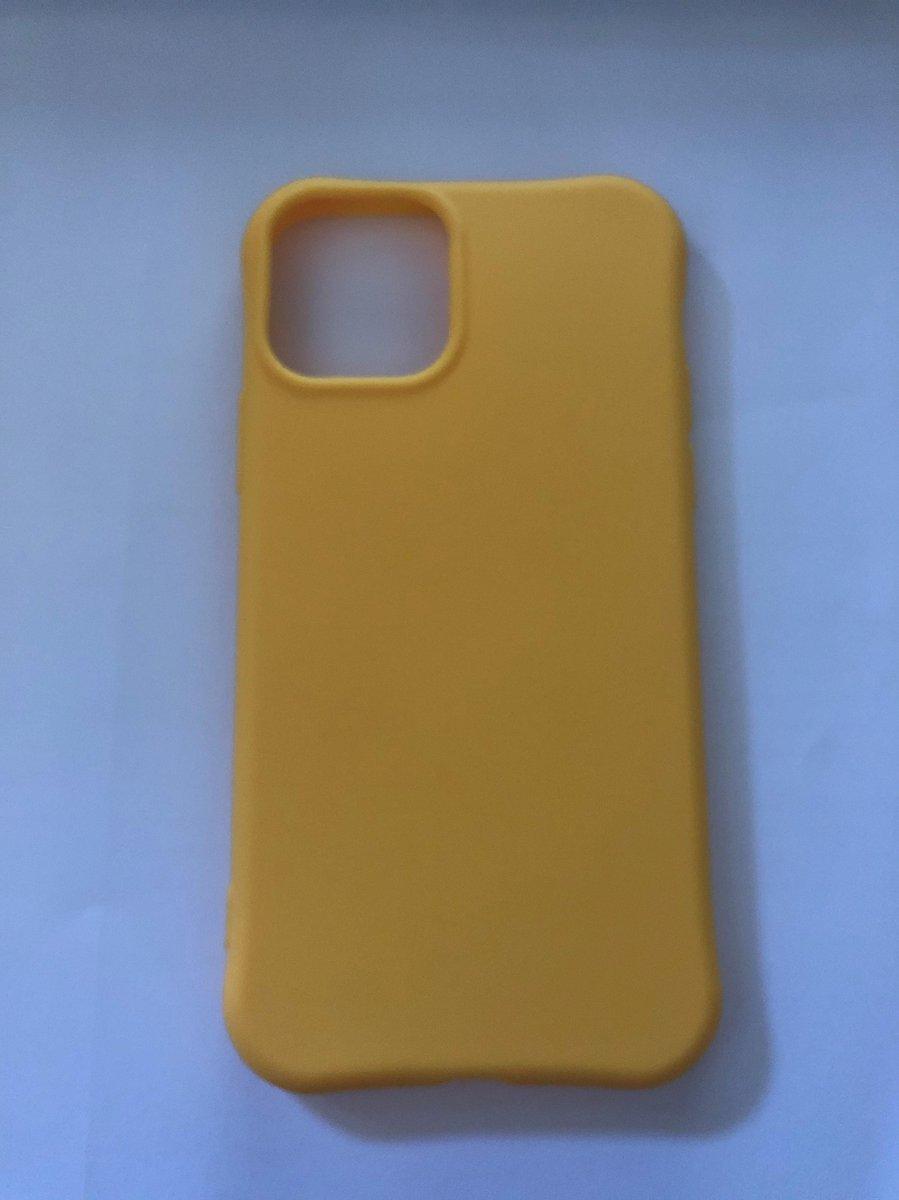 Appel iPhone 11 pro hoes / Backcover / TPU / Silikonen Soft Case / Geel / Cadeau / Beschermd / Draadlos Opladen / Telefoon Accessoires