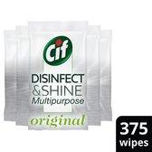 Cif Disinfect & Shine wipes Desinfectie Schoonmaakdoekjes - 5 x 75 doekjes