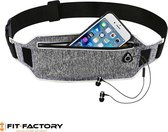 Fit Factory Running Belt - Hardloop Telefoonhouder - Hardloopriem - Hardlooptasje - Heuptasje - Sporttas - Hardlopen - One Size - Grijs