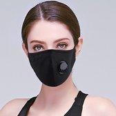 Wasbare mondmasker met filter Zwart
