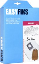 Easyfiks- Stofzuigerzakken - Geschikt voor Philips Performer Active, Expression, Mobilo S-Bag - 5 Stuks