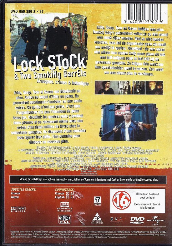 Cover van de film 'Lock, Stock and two Smoking Barrels'