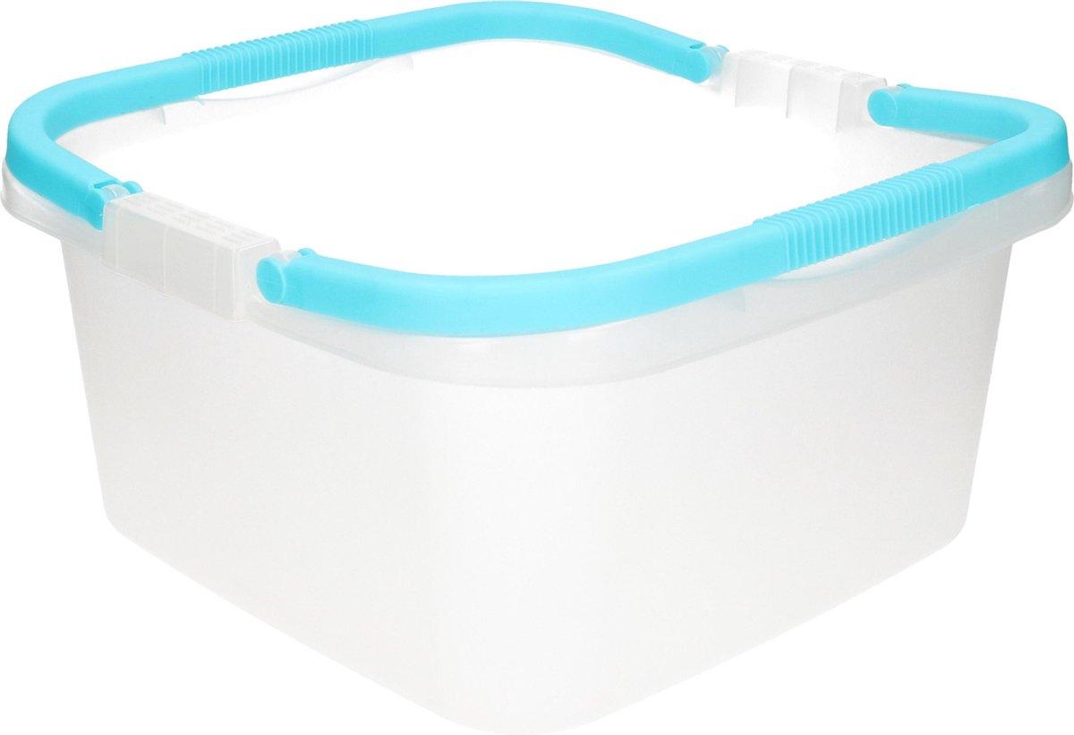 Handige teil / afwasteil met handvat - 13 liter - licht blauw - afwasbak