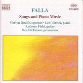Classical Palette - Falla: Songs and Piano Music / Quaife