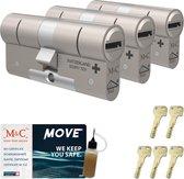 Cilinderslot M&C Move (3 stuks)