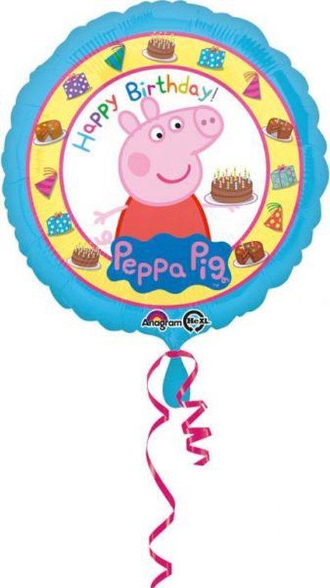 Peppa Pig Helium Ballon, Happy Birthday 43cm leeg