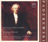 Paderewski: Violin & Piano Works