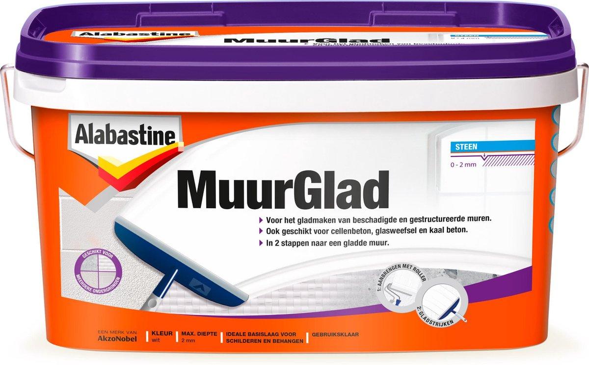 Alabastine Muurglad - Rolbaar - 10L
