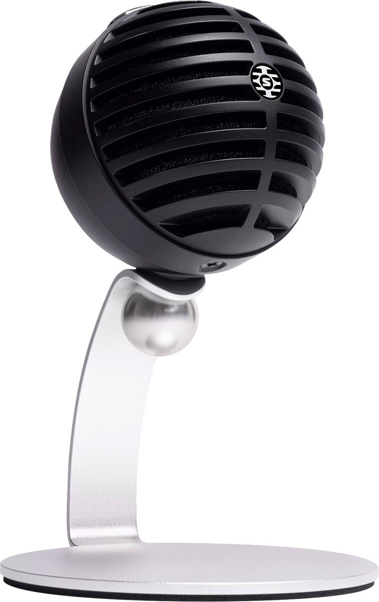 Shure MV5C-USB Cardioid Condenser Digital Microphone with Fixed Sample Rate, two onboard DSP settings, including USB-A & USB-C Cables (Black/Grey)