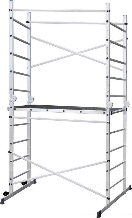ALDORR Home - 2x10 Multifunctionele Kamersteiger - Ladder - Werkhoogte 3,80 meter