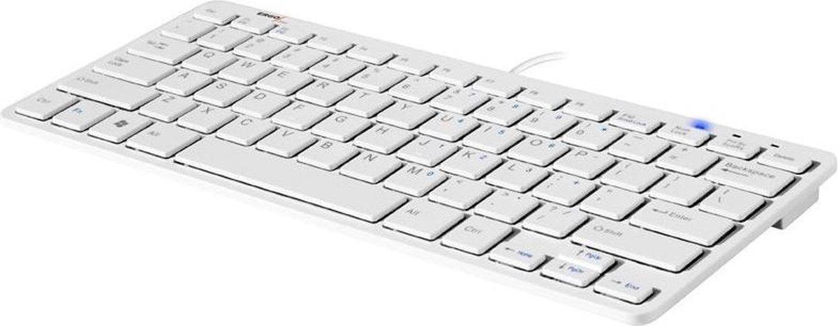 Backshop Compact toetsenbord USB QWERTY Amerikaans Engels Wit - Backshop