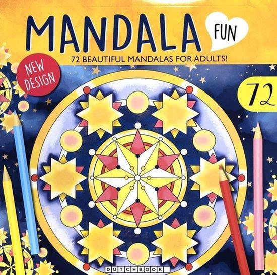 Afbeelding van 72 Kleurplaten Voor Volwassenen Sterren Hemel - Kleurboek Voor Volwassen - Kerst Mandala - Winter