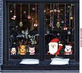 Kerst raam decoratie - Statisch - herbruikbaar - Kerst sticker 2 - kerstman - kerstkado - Christmas - Compleet set - kerst raamsticker - kerst decor