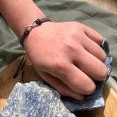 Wellness-House   Armband (eco) Suede Infinity Grijs   16-21 cm   In geschenkverpakking