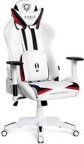 Bol.com-Bobby's Gamingstoel - 4D Armleuningen - Bureaustoel - Leunstoel - PC Stoel - Hoogte Verstelbaar - Ergonomische Stoel - Draaibare Stoel - Luxe - Wit - Rood-aanbieding