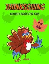 Thanksgiving Activity Book for Kids 4-8 Ages