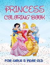 Princess Coloring Book For Girls 5 Year Old