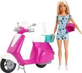 Barbie Scooter met Barbiepop