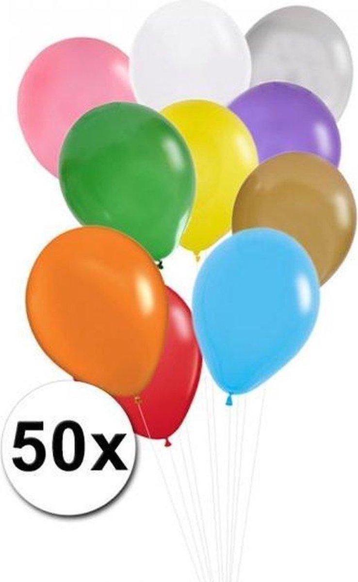 Gekleurde ballonnen 50 stuks