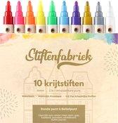 Raamstiften - Krijtstiften - window marker - krijtstiften voor raam - krijtmarker - krijtbord stift - Set van 10 krijtstiften