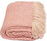 Yoga deken / meditatie deken visgraat roze